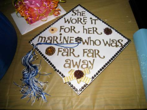 Nick's daughter's graduation cap